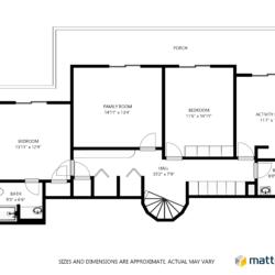 Sample Schematic Floor Plan- Floor 1